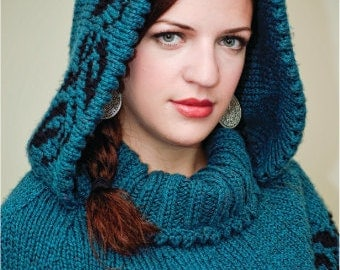 Commuter Caplet Knitting Pattern, Instant Download