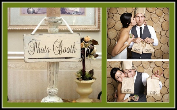 BRIDAL PHOTO BOOTH With Arrow Shabby wooden Wedding Sign