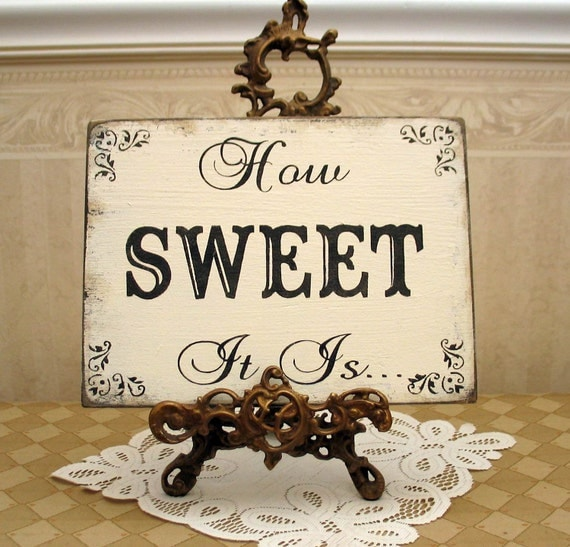 Sweet Table Candy Bar Wedding Reception Shabby Sign