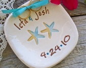 Custom Starfish Ring Bearer Bowl, Beach Theme Wedding Ring Bowl, Ring Pillow, Ring Warming Ceremony, Wedding Ring Holder
