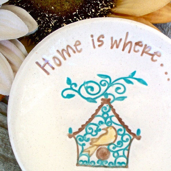 Mother's Day Trinket Dish - Home Is Where My Mom Is