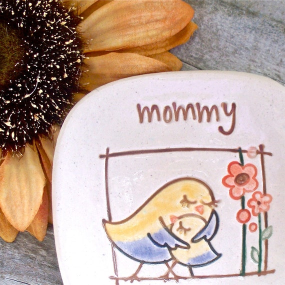 Mother's Day  Ceramic Trinket Bowl - In Mommy's Arms