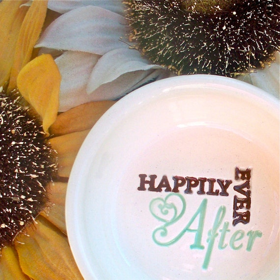 Ring Dish - Happily Ever After Text Ring Bowl