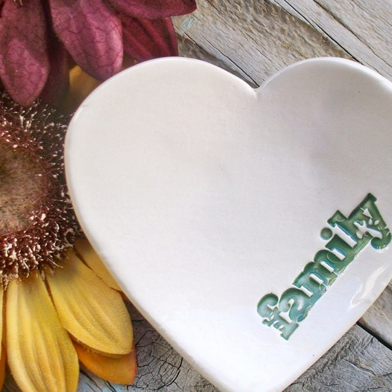 Heart Shaped Ring & Trinket Bowl - Family