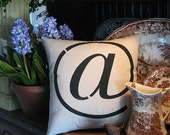 Typographic  At  pillow