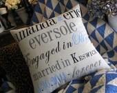 Our Wedding Keepsake Pillow