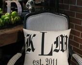 Established/Monogram pillow