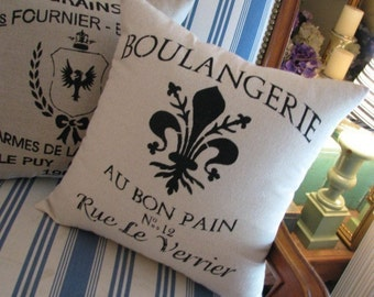French Bakery pillow