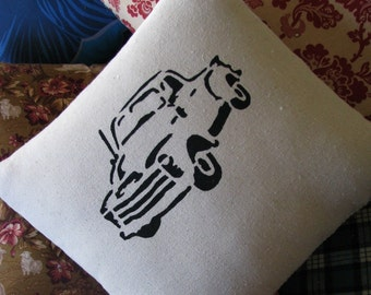Vintage Pick-Up pillow