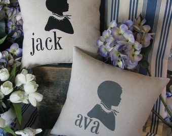 Baby Silhouette/Name Pillow