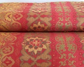 Home Dec Fabric - Gorgeous Red Gold and Green Moorish Print