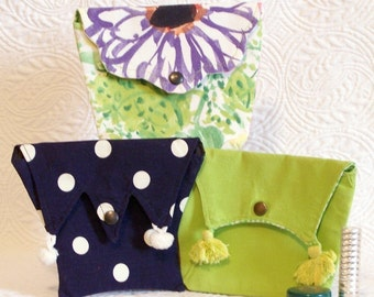 Small Purses for organizing makeup or the little essentials - four designs