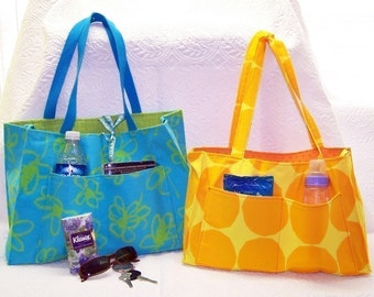 Reversible OR Zippered tote pdf Sewing Instructions