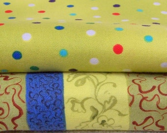 Cotton Fabric sewing quilting lining polka dot abstract