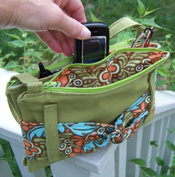 pdf Sewing Pattern - Convenient, Organized Purse  - two sizes