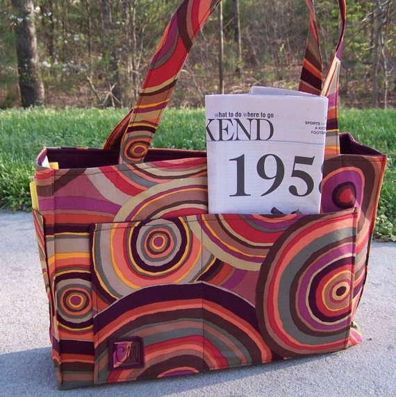 Sewing Pattern pdf - Roomy Reversible OR Zippered tote in 2 sizes
