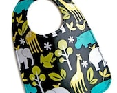 The Zoo REVERSIBLE Everyday Bib by Amy Rose Designs (c)