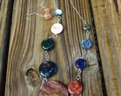 Solar System Planets Necklace OOAK