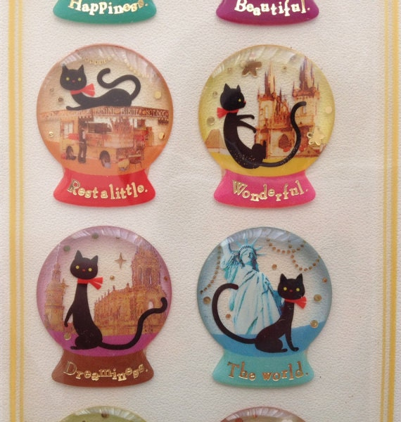 Gel Stickers - Travel of Cat by MIND WAVE