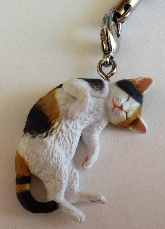 Cell Phone Strap / Zipper Pull - KITAN CLUB - Calico Cat