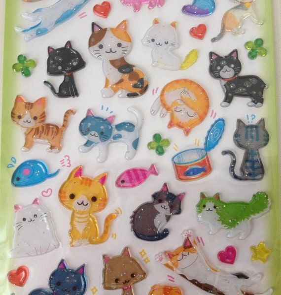 Gel Stickers - Candy Cats by Q-Lia