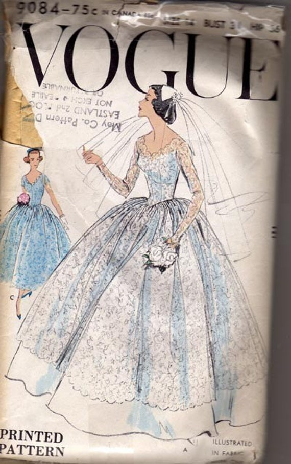 Vintage Vogue Pattern 9084 Wedding