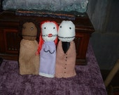 Trio of Salad Fingers finger puppets