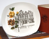 London Row Upcycled Illustrated Platter