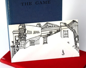 Drawing, Bt Tower Up-cycled envelope