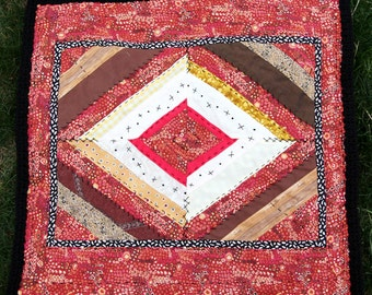 African Inspired,Baby Quilt,Blanket,Flannel,Diamond Pattern,Wall Hanging