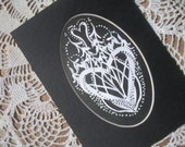 OOAK Papercut Anytime Valentine Vintage 2012