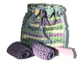 Spring Heather Crocheted Bath Set