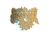 Gold Vintage Style Crocheted Choker