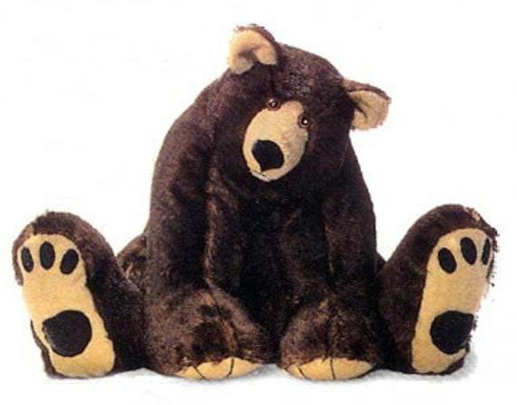 Easy to sew*** Teddy Bear sewing PATTERN 2  Ft MAMA Grizzly Teddy Bear  Pattern by Judi Lynn Designs