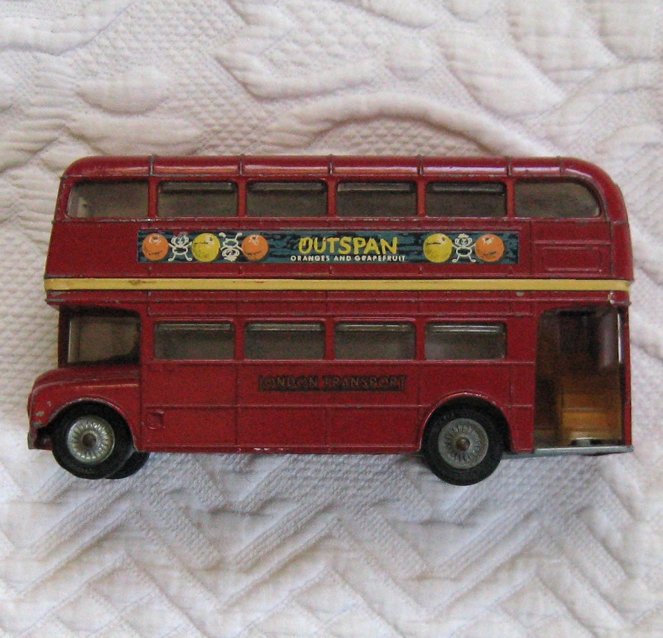 Vintage London Double Decker Bus Toy By Corgi