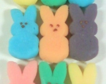 Marshmallow Soaps-cute colorful assortment of bunny candy
