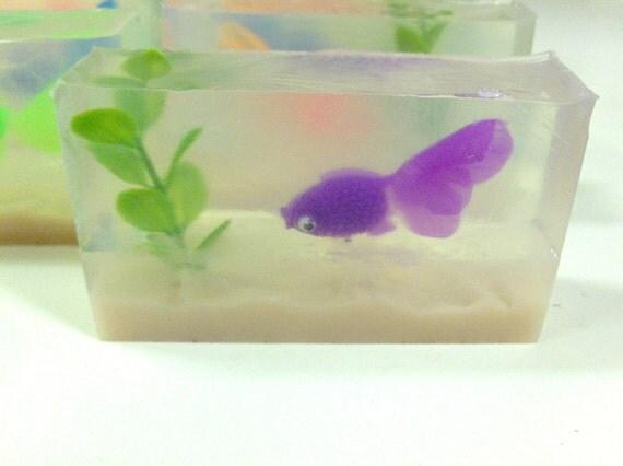50% off sale - Goldfish Aquarium Soaps - Cute- Perfect for kids