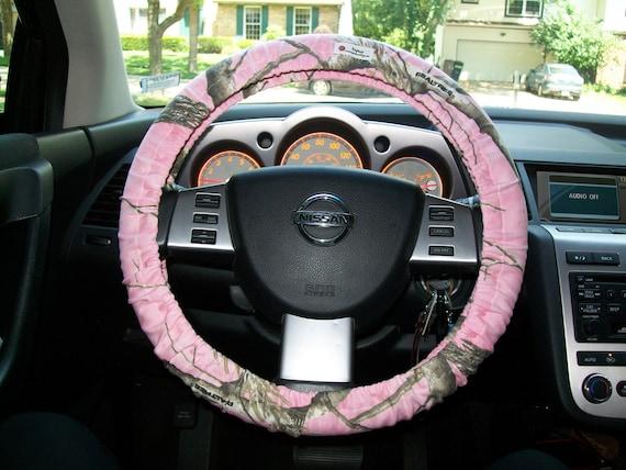 custom pink cotton camo steering wheel cover. Black Bedroom Furniture Sets. Home Design Ideas