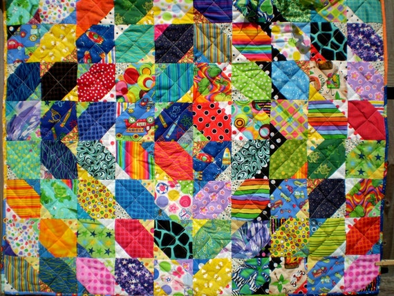 50% off sale-Quilt-Baby or lap-Crackle and Pop
