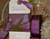 Wild Rose - Hand Dyed Silk Ribbon by Hanah Silk 1 inch wide