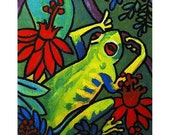 Little Green Frog in the Rainforest - 8x10 Reproduction of Original