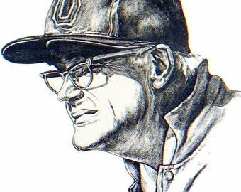 OSU Art - Woody Hayes - Ohio State Buckeyes - Football - Art Print