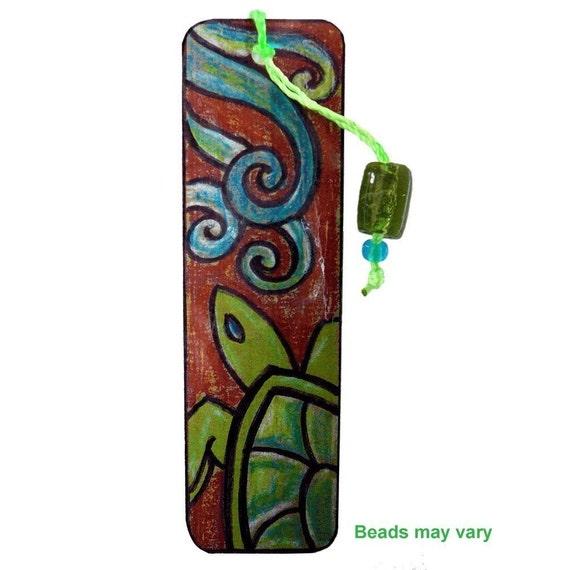 Turtle Bookmark - Original Design Beaded Bookmark