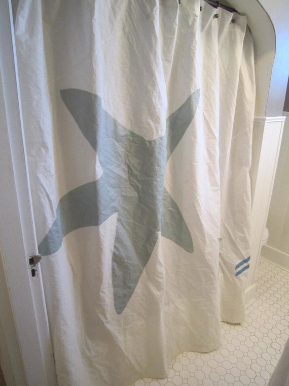 Special Order for Jodi Recycled Sail cloth shower curtain