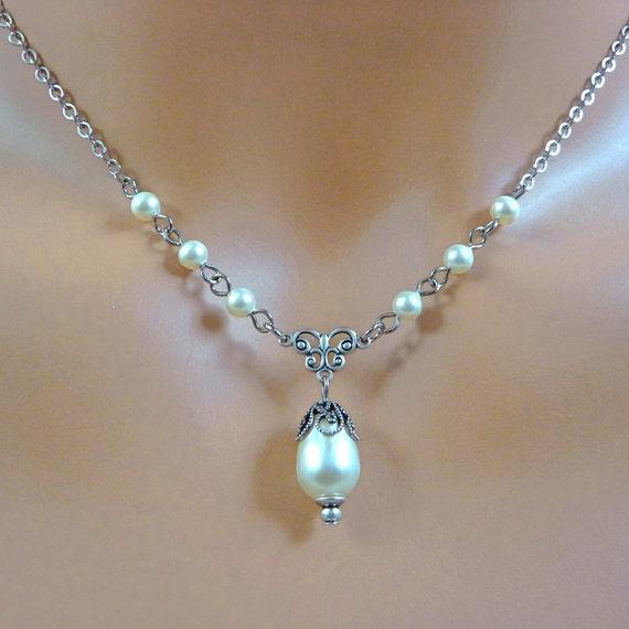 Pearl Necklace Valentine Gift Jewelry Swarovski by ...