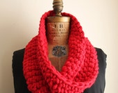 bright red cowl