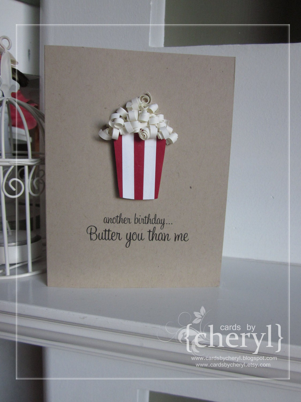 Quilled Popcorn Birthday Card