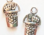 10 Sand Pail Charms (doulbe sided) 20x12mm ITEM:AN22