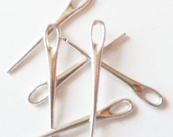 10 Sewing Needle Charms 39X6mm ITEM:X4