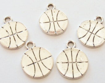 10 Basketball Charms (double sided) 18x14mm ITEM:H4